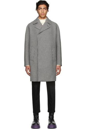 Dunhill Black & White Houndstooth Coat