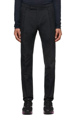 Dunhill Black Single Pleat Trousers