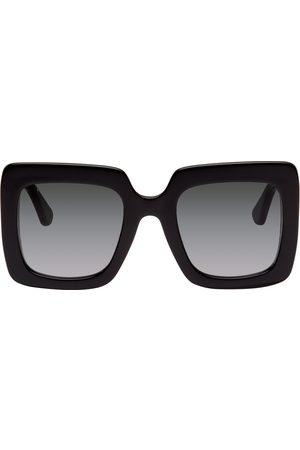Gucci Black Square Oversized Sunglasses