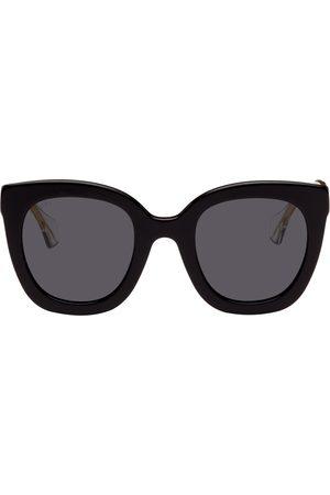 Gucci Black Round Logo Sunglasses