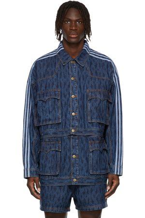 adidas x IVY PARK Blue Denim Monogram Track Jacket