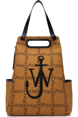 J.W.Anderson Tan Canvas Logo Anchor Backpack