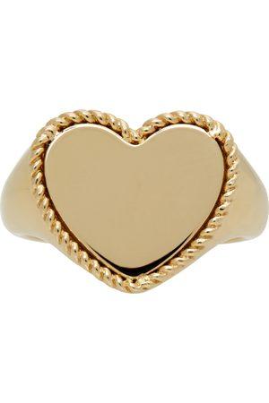 YVONNE LÉON Gold Cœur Signet Ring
