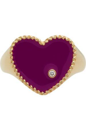 YVONNE LÉON Gold & Purple Cœur Signet Ring