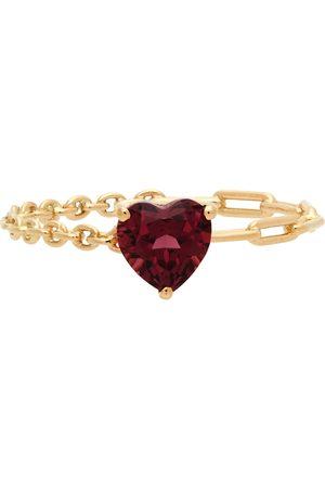 YVONNE LÉON Gold & Pink Cœur Solitaire Ring