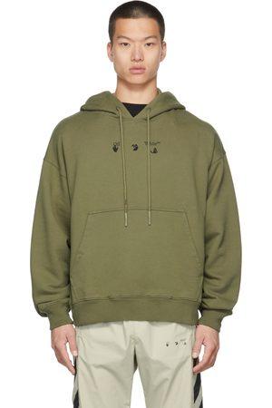 OFF-WHITE Green Negative Mark Skate Hoodie