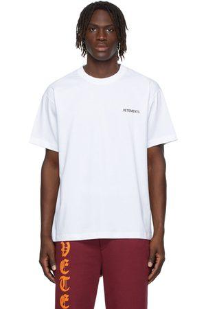 Vetements SSENSE Exclusive White Logo T-Shirt