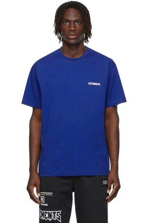 Vetements SSENSE Exclusive Blue Logo T-Shirt