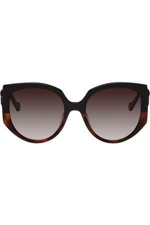 Loewe Black Oversized Cateye Sunglasses