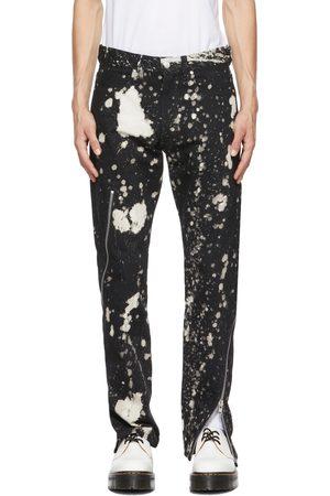 Kidill Black & White Zip Tapered Jeans