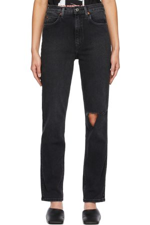 RE/DONE Black 70s Straight Jeans
