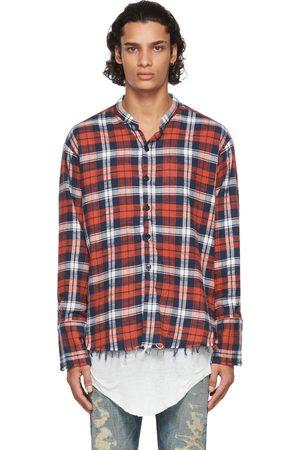 Greg Lauren Red Plaid Classic Studio Shirt
