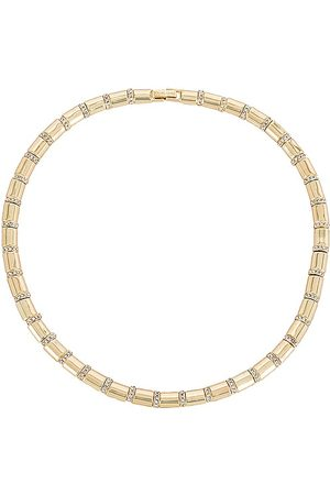 Baublebar Pave and Link Necklace in Metallic .