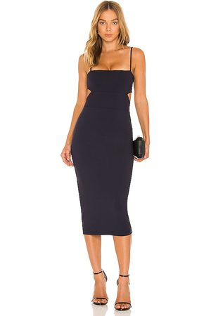 Susana Monaco Cutout Strap Solid Dress in Navy.