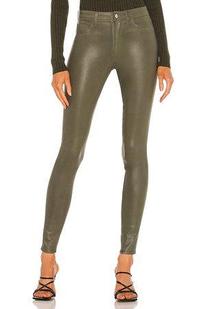 L'Agence Marguerte High Rise Skinny Jean in Olive.