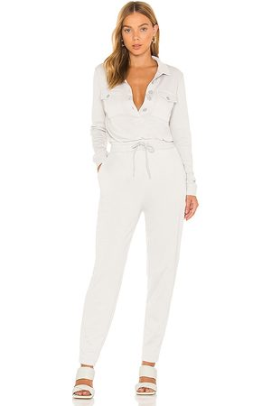 525 America Women Jumpsuits - Distressed Utility Jumpsuit in Light Grey.