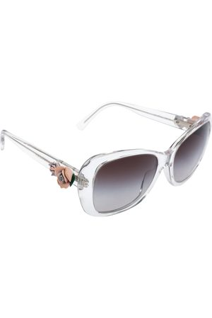 Dolce & Gabbana Women Square - Floral Embellished/ Grey Gradient DG4184 Square Sunglasses