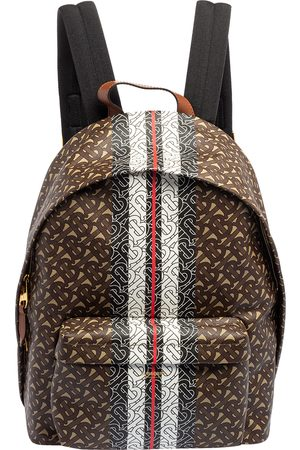 Burberry TB-Print Coated Canvas and Leather Backpack