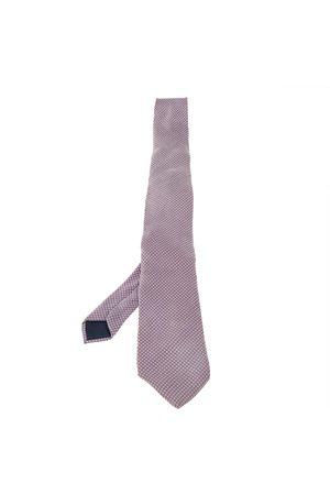 Lanvin Dot Pattern Print Silk Satin Tie