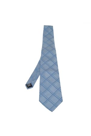 Dunhill Check Patterned Traditional Silk Tie