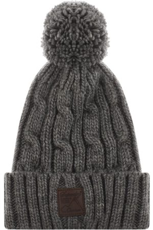 Superdry Trawler Cable Beanie Hat Grey