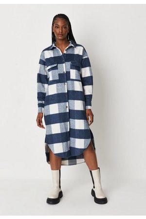 Missguided Plaid Midi Shirt Dress