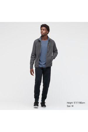 UNIQLO Men's Stretch Fleece Long-Sleeve Jacket, Gray, XXS