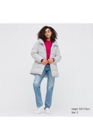 UNIQLO Women's Seamless Down Short Coat, Gray, XS