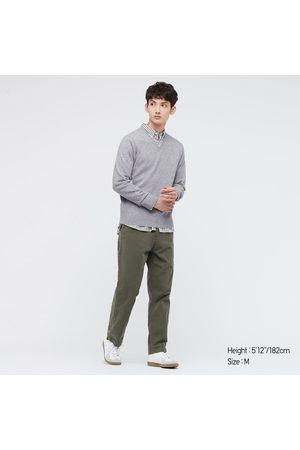 UNIQLO Men's Cashmere V-Neck Long-Sleeve Sweater, , XXS