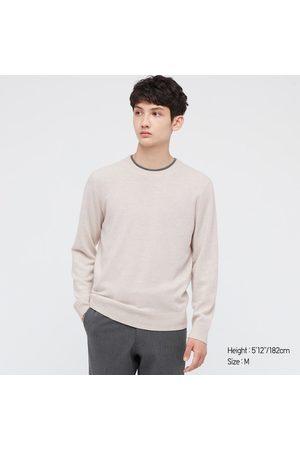 UNIQLO Men's Cashmere Crew Neck Long-Sleeve Sweater, Gray, XXS