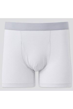 UNIQLO Men's Airism Striped Boxer Briefs, Gray, S