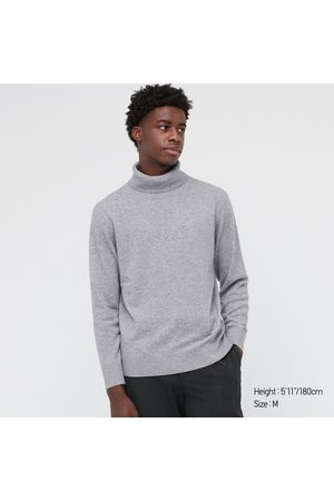 UNIQLO Men's Cashmere Turtleneck Long-Sleeve Sweater, , XXS