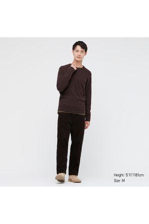 UNIQLO Men's Cashmere Crew Neck Long-Sleeve Sweater, Brown, XXS