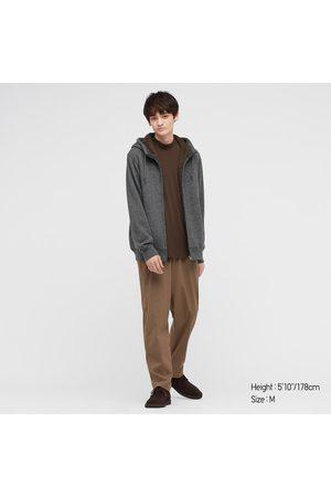 UNIQLO Men's Pile-Lined Sweat Long-Sleeve Full-Zip Hoodie, Gray, XXS