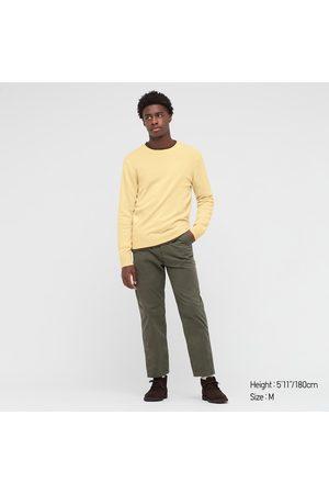UNIQLO Men's Cashmere Crew Neck Long-Sleeve Sweater, , XXS