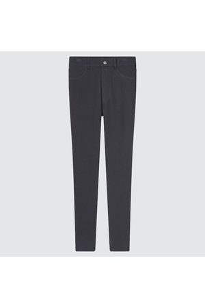 UNIQLO Women's Ultra Stretch High-Rise Printed Leggings Pants, Gray, XXS