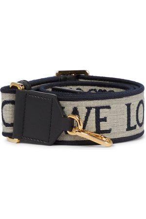 Loewe Anagram leather-trimmed bag strap