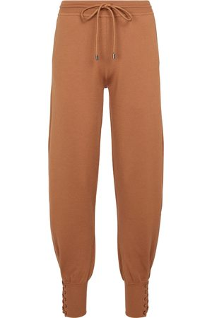 Chloé Wool and silk-blend sweatpants