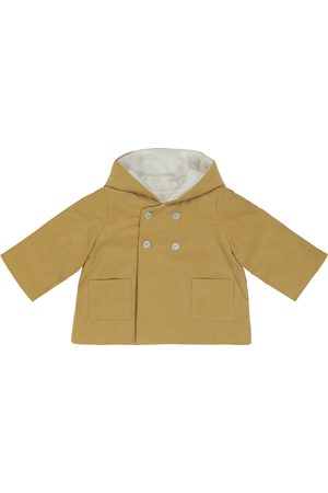 BONPOINT Baby hooded cotton corduroy jacket