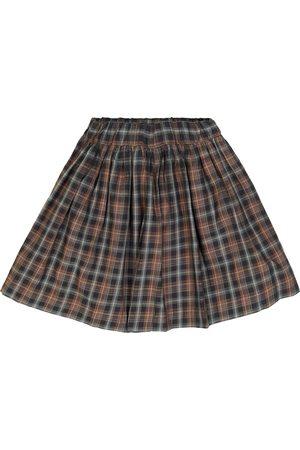 BONPOINT Checked cotton skirt