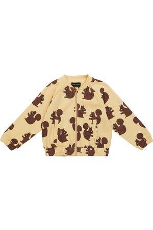 Mini Rodini Squirrel organic cotton bomber jacket