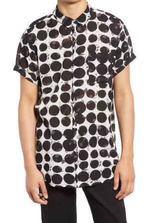 Rollas Men's Beach Boy Painter Short Sleeve Button-Up Shirt