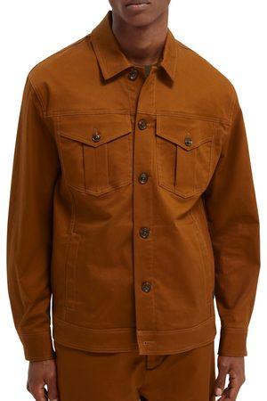 Scotch&Soda Men's Organic Cotton Blend Twill Trucker Jacket