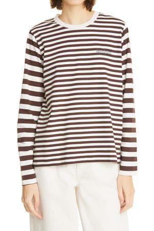 Ganni Women's Stripe Long Sleeve T-Shirt