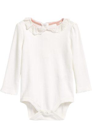 Boden Infant Girl's Eyelet Collar Cotton Bodysuit