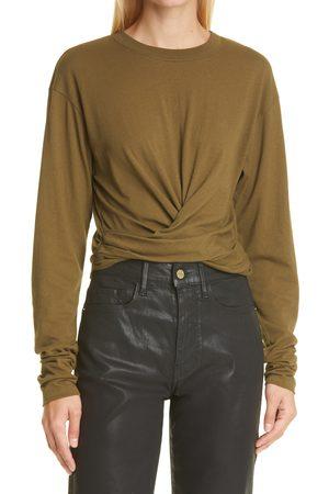 Frame Women Wrap tops - Women's Wrap Around Cotton T-Shirt