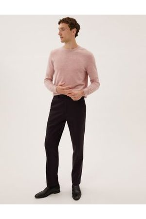 Marks & Spencer Men Formal Pants - Tailored Fit Italian Wool Trousers