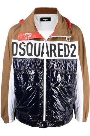 Dsquared2 Men's Multicoloured logo-print colour-block windbreaker