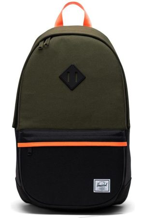 Herschel Men Laptop Bags - Heritage 2 Backpack - Ivy Green/Black/Shocking Orange