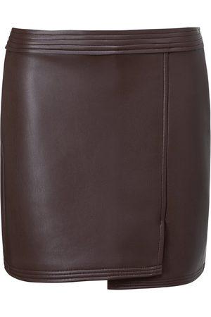 YAYA Faux Leather Mini Skirt